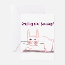 Plot Bunny Blank Greeting Cards (Pack/6)