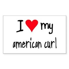 I LOVE MY American Curl Decal