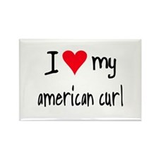 I LOVE MY American Curl Rectangle Magnet