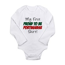 First Proud Portuguese Long Sleeve Infant Bodysuit