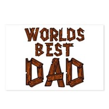 Worlds Best Dad Postcards (Package of 8)