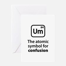 Symbol for Confusion Greeting Card