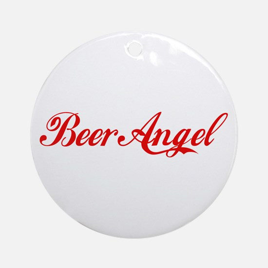 Beer Angel Ornament (Round)