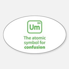 Symbol for Confusion Sticker (Oval)