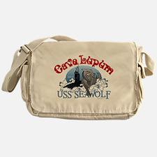 Cave Lupum - USS Seawolf Messenger Bag