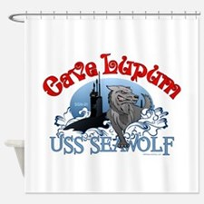 Cave Lupum - USS Seawolf Shower Curtain