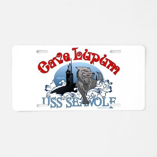 Cave Lupum - USS Seawolf Aluminum License Plate