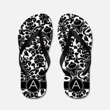 Monogram Patterns Letter A Flip Flops