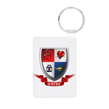 Nursing Crest Aluminum Photo Keychain