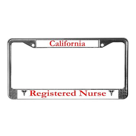 California Registered Nurse License Plate Frame