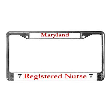 Maryland Registered Nurse License Plate Frame