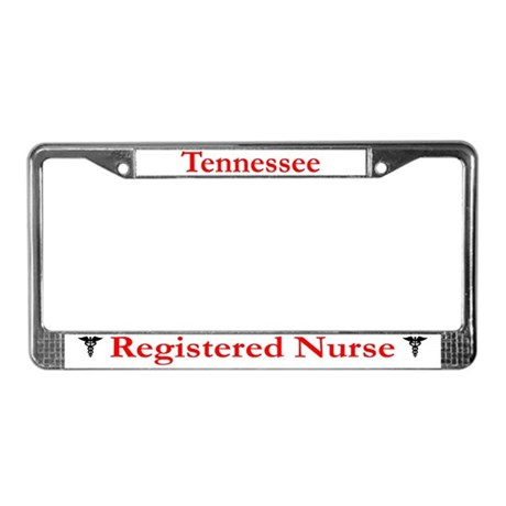 Tennessee Registered Nurse License Plate Frame