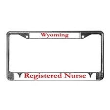 Wyoming Registered Nurse License Plate Frame