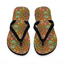 Rainbow Mosaic Flip Flops / Thongs