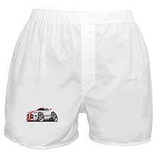 Viper GTS White-Red Car Boxer Shorts