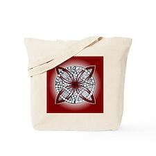 Celtic Knot Doodle Red Tote Bag