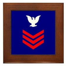 Petty Officer First Class <BR>Framed Tile