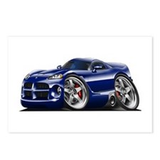 Viper GTS Dark Blue Car Postcards (Package of 8)