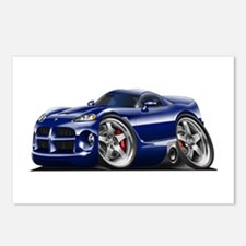 Viper GTS Dark Blue Car Postcards (Package of 8)