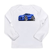 Viper GTS Blue Car Long Sleeve Infant T-Shirt