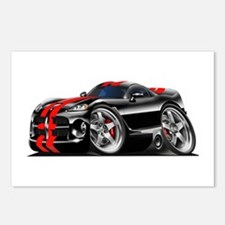 Viper GTS Black-Red Car Postcards (Package of 8)