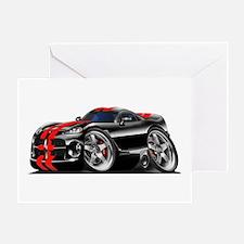 Viper GTS Black-Red Car Greeting Card
