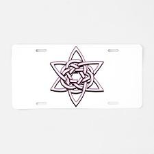 Celtic Star Aluminum License Plate
