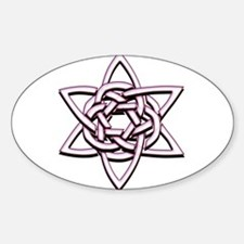 Celtic Star Sticker (Oval)