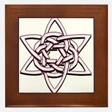 Celtic Star Framed Tile