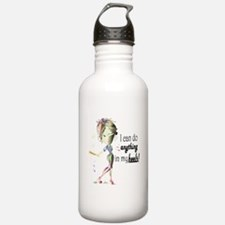 Baseball in Heels Water Bottle
