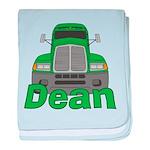 Trucker Dean baby blanket