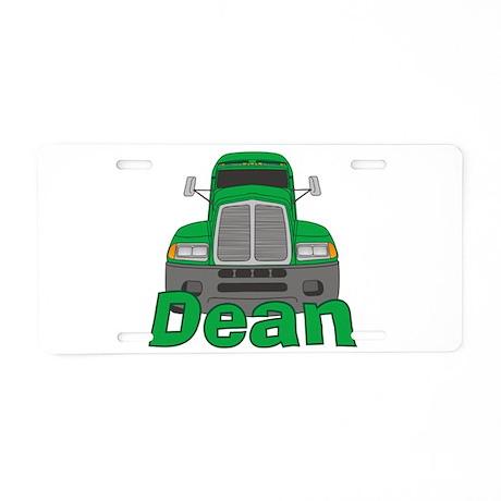 Trucker Dean Aluminum License Plate