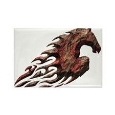 Blazing Horse Rectangle Magnet (10 pack)