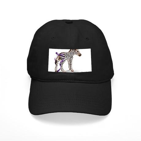 Zebra with Ribbon on Tail Black Cap