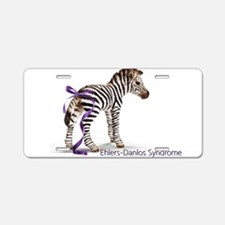 Zebra with Ribbon on Tail Aluminum License Plate