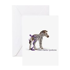 Zebra with Ribbon on Tail Greeting Card