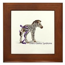 Zebra with Ribbon on Tail Framed Tile