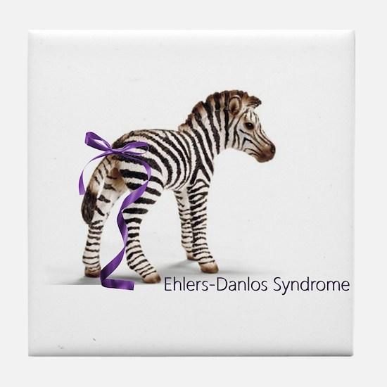 Zebra with Ribbon on Tail Tile Coaster