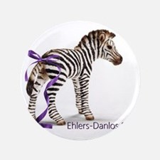 """Zebra with Ribbon on Tail 3.5"""" Button"""
