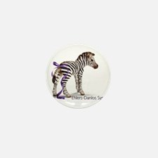 Zebra with Ribbon on Tail Mini Button (10 pack)