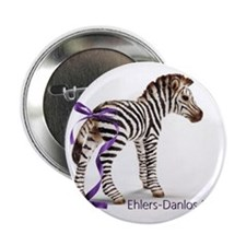 """Zebra with Ribbon on Tail 2.25"""" Button"""