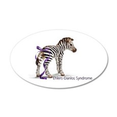 Zebra with Ribbon on Tail 22x14 Oval Wall Peel