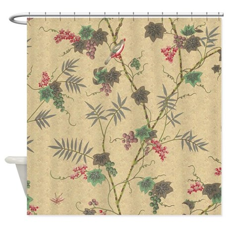 Vintage Bird Shower Curtain by iloveyou1