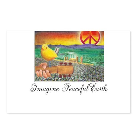 Imagine Peaceful Planet Postcards (Package of 8)