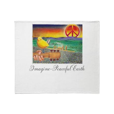 Imagine Peaceful Planet Throw Blanket