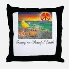 Imagine Peaceful Planet Throw Pillow