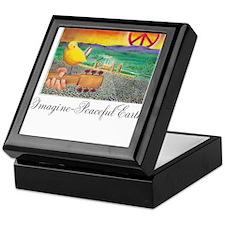 Imagine Peaceful Planet Keepsake Box