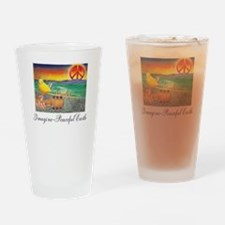 Imagine Peaceful Planet Drinking Glass