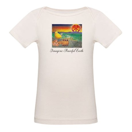 Imagine Peaceful Planet Organic Baby T-Shirt