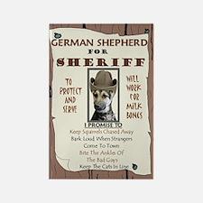 Sheriff -RecMag -GermanShepherd Magnets